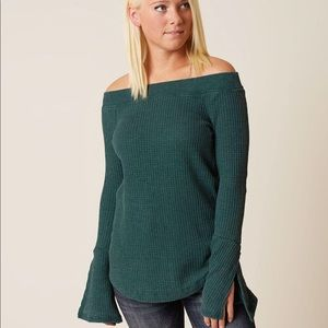 Buckle | Off The Shoulder Thermal Top